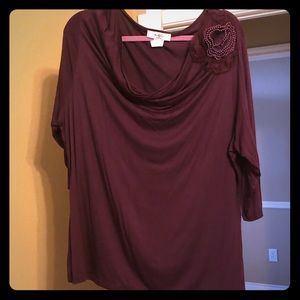 Deep plum blouse